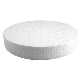 Polystyrene disc Ø 25 cm x 4 cm