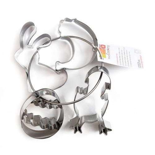 4 Stainless steel cookie cutters - Easter