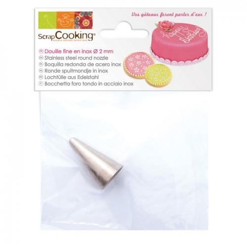 Stainless steel Russian icing nozzle - Fine