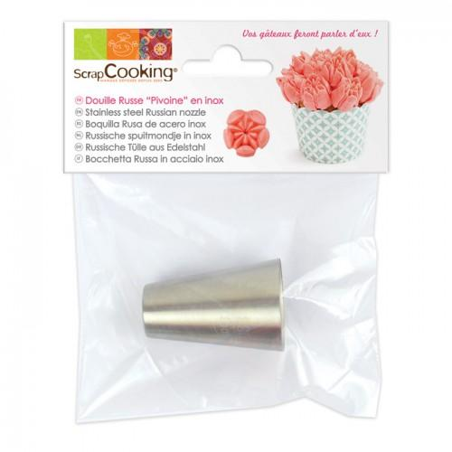 Stainless steel Russian icing nozzle - Peony
