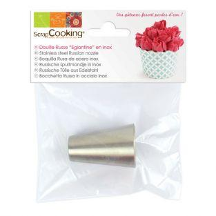 Stainless steel Russian icing nozzle - Wild rose