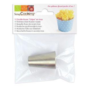 Boquilla pastelera rusa de acero - Tulipán