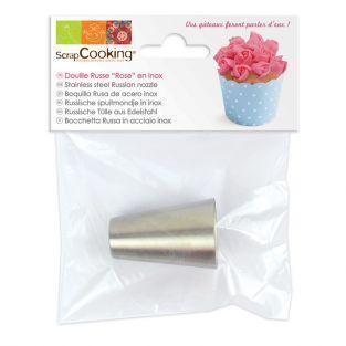 Boquilla pastelera rusa de acero - Rosa
