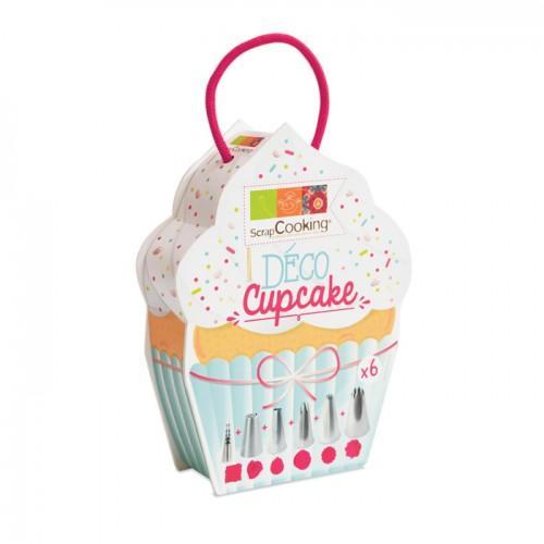 Boite d co cupcake 6 douilles inox scrapcooking youdoit - Deco pour cupcake ...