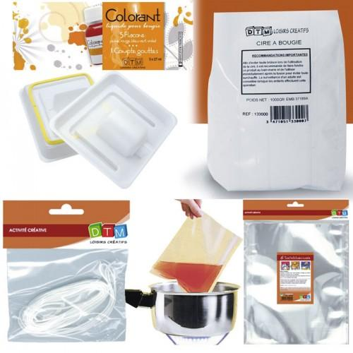Kit bougies à faire soi-même - Ø 8 cm - 5 colorants