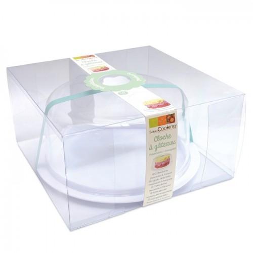 Tapa de pastel transparente Ø 28,5 cm