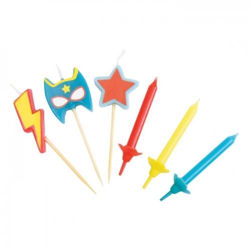 12 Velas + 3 Velas Super Heroes