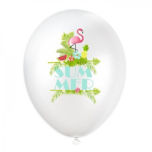 6 ballons gonflables - Summer - Ø 28 cm