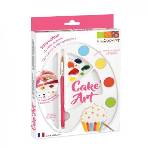Palette de peinture alimentaire - Cake Art