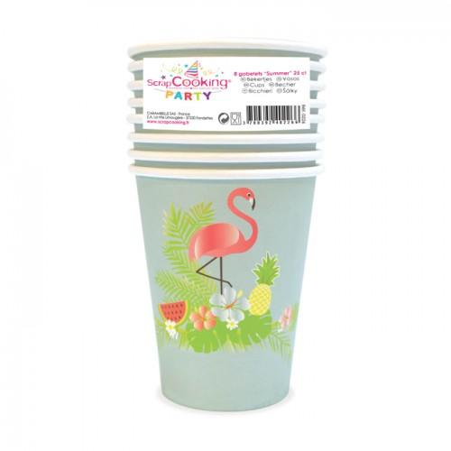 8 paper cups 25 cl - summer