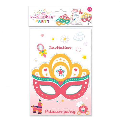 6 Invitation Cards - Princess