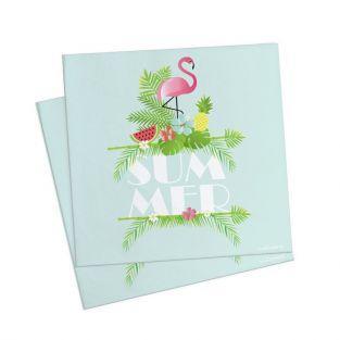 20 paper napkins 33 x 33 cm - summer