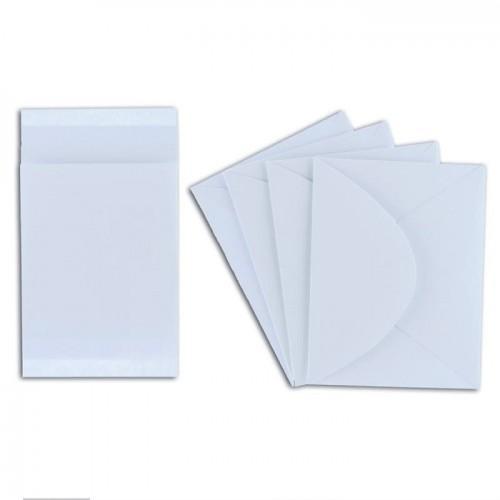4 mini cartes blanches avec enveloppes