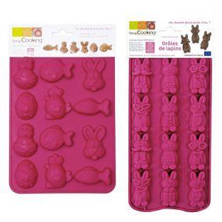 Moldes de chocolates - Conejos graciosos