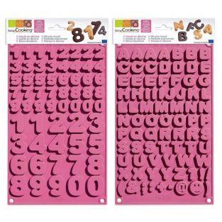 Moldes de chocolates - Alfabeto y números