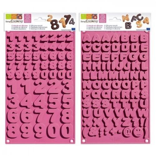 Moules à chocolats alphabet & chiffres