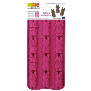 Chocolate mold - Funny rabbits