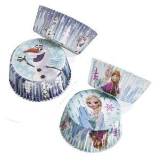 Caissettes à cupcakes Reine des Neiges