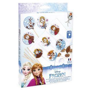 Moldes para piruletas de chocolate - Frozen El Reino de Hielo