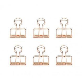 Pinces double-clip x 6 - cuivré