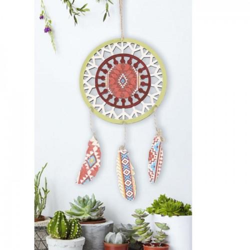 Customizable Wooden Dream catcher - Feathers 22 x 38 cm