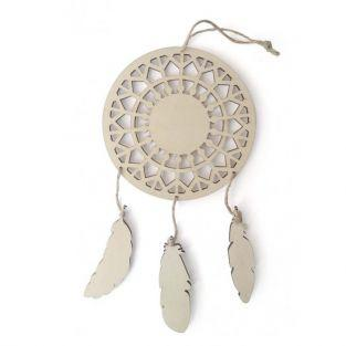 Customizable Wooden Dream catcher - Feathers 12,5 x 23,5 cm