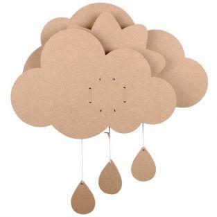 Music box - Wooden cloud 39 x 50 cm