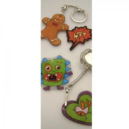 Shrink Plastic Monster Keychains kits