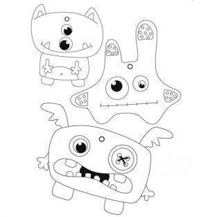 Kit Porte Cles Monstres En Plastique Fou Youdoit