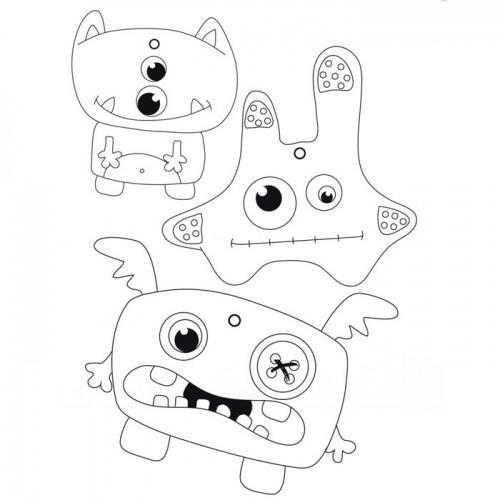 Kit porte-clés Monstres en plastique fou