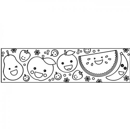 Customizable Masking tape - Fruits 4,6 cm x 5 m