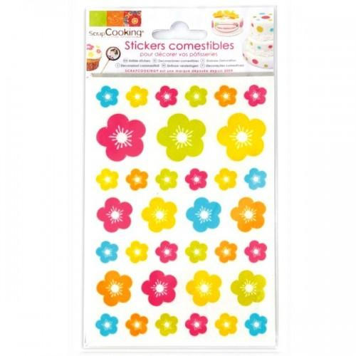Stickers alimentaires Fleurs