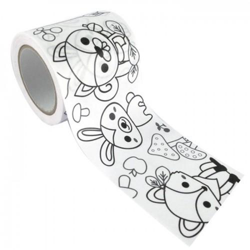 Customizable Masking tape - Forest Animals 4.6 cm x 5 m