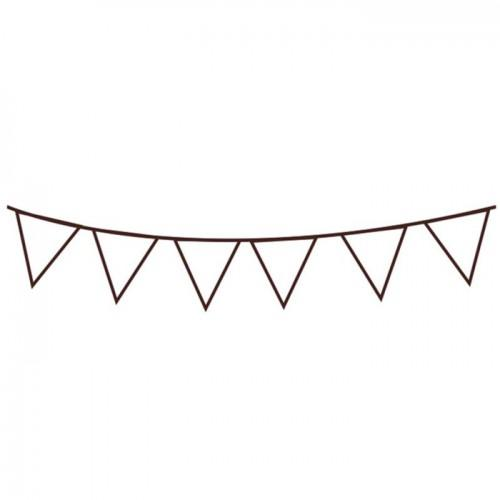 Wooden stamp - Pennants 7.2 x 3.2 cm