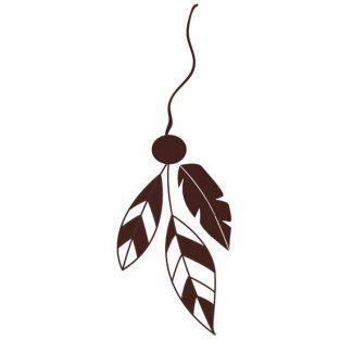 Tampon en bois - Suspension Plumes 8 x 4,5 cm