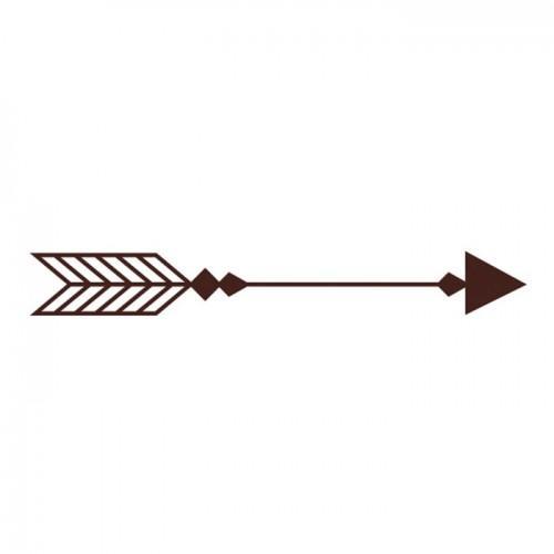 Wooden Stamp - Arrow 7.2 x 3.2 cm