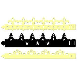 6 couronnes en carton à décorer