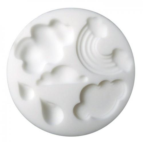 Mini Silicone Mold for FIMO Paste - Clouds