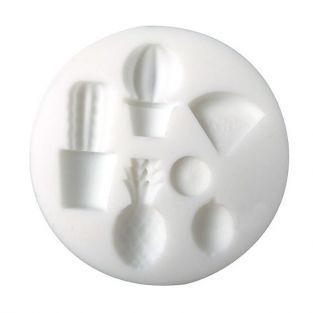 Mini molde de silicona para masa FIMO - Exótico
