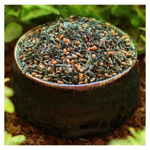 Thé vert bio japonais Genmaicha - Sencha & riz grillé - 100 g