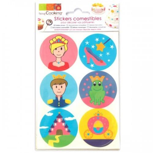 Stickers alimentaires Princesse