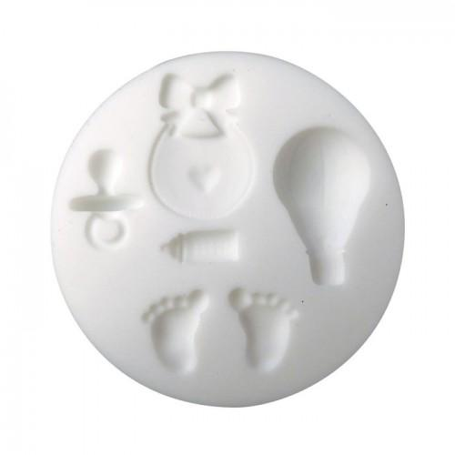Mini moule en silicone pour pâte FIMO - Naissance