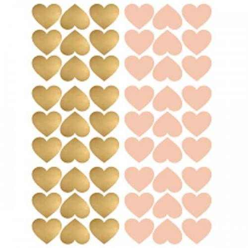 Repositionable stickers x 54 - Pink & gold