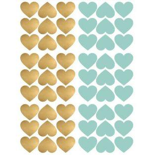 Repositionable stickers x 54 - Blue & gold