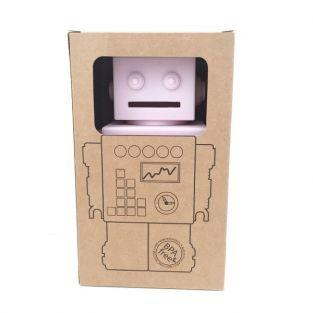 Robot money box - pink silicone