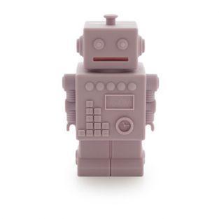 Tirelire Robot - silicone rose
