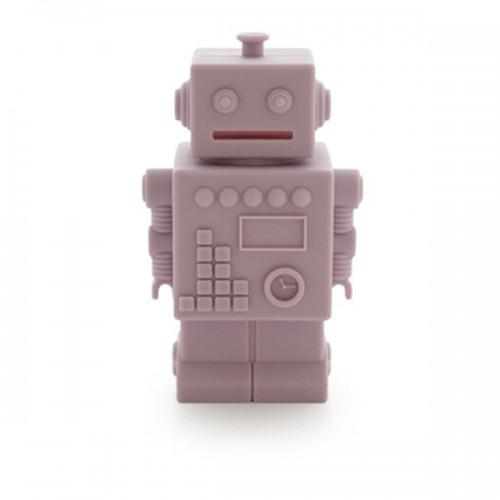 Robot money box - pink silicone