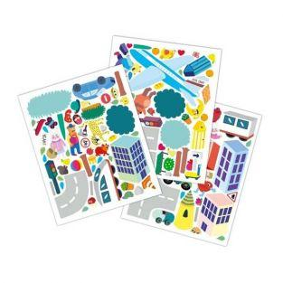 Stickers repositionnables Ville x 100