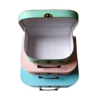 Children's cardboard suitcases x 3 - Pastel colors
