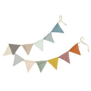 Garland 12 pennants 1.50 m - multicolored
